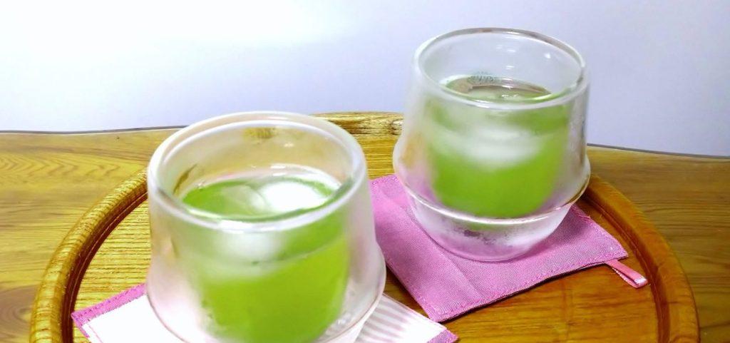 玉緑茶で冷たい水出し茶を作りましょう